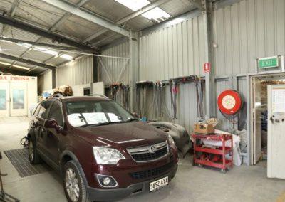 Crash repair work being undertaken in our fully equipped workshop in suburban Adelaide
