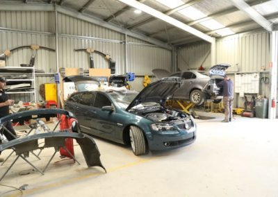 Crash repair work being undertaken in our fully equipped workshop in suburban Adelaide